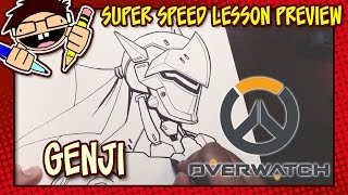Lesson Preview: How To Draw GENJI (Overwatch)
