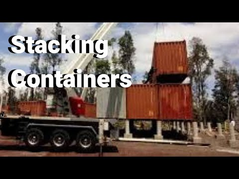 Stacking Day For The Container Home