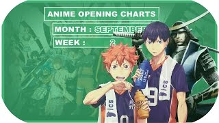 ► Top 20 | Anime Opening Charts | Week - 2 | Month (SEPTEMBER) | (HD)