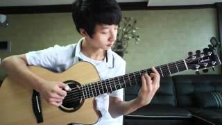 "Thần đồng guitar Jung Sung Ha cover ""Lonely"" 2NE1"