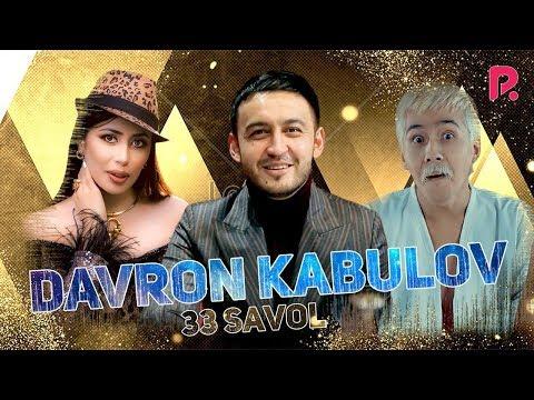 33 savol - Davron Kabulov Kaniza va Nasafiyga ta'rif berdi