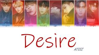 - artist : 에이티즈 (ateez) song desire by ateez album treasure ep.2 zero to one han: klyrics rom: français @ateez_france 📱social media link ...