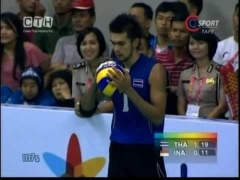 THAILAND-INDONESIA Men's Volleyball SEA Games 2011 Set 2
