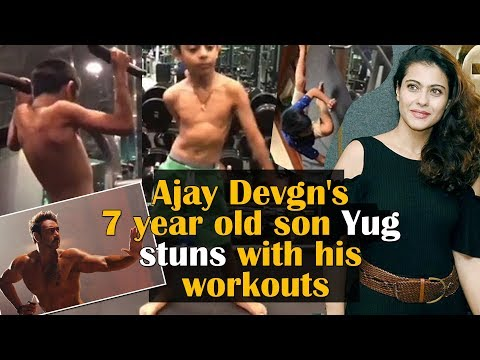 Ajay Devgn''s 7 year old son Yug Devgan stuns with his workouts | #HumFitTohIndiaFit | Fitness