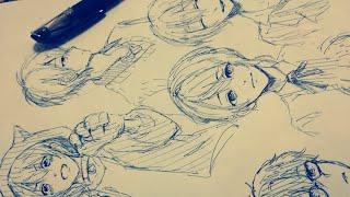 男子たくさん描いてみた【一発描き】 thumbnail