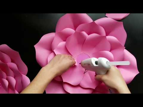 Diy paper flower, template 9 large paper flower