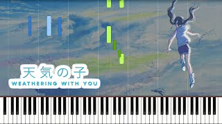 Weathering With You - Grand Escape (FULL) Piano Synthesia (Tenki no Ko) 天気の子 グランドエスケープ | Sheet Music