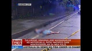 UB: Dalawang hinihinalang magnanakaw ng motorsiklo, patay matapos daw makipagbarilan sa mga pulis