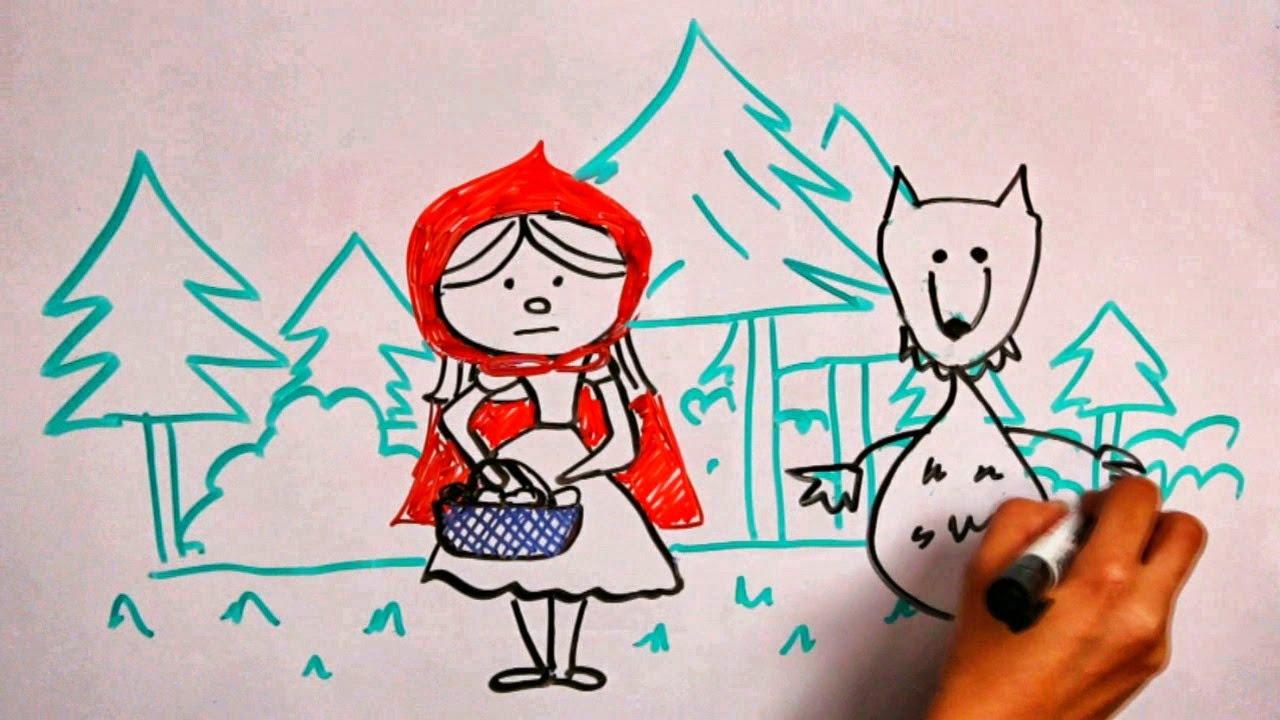 Красная шапочка и волк - сказки - детей - YouTube