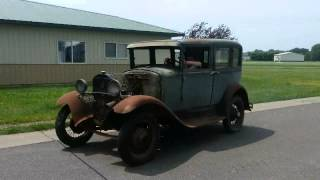 1930 Model A First Run After 40 Years