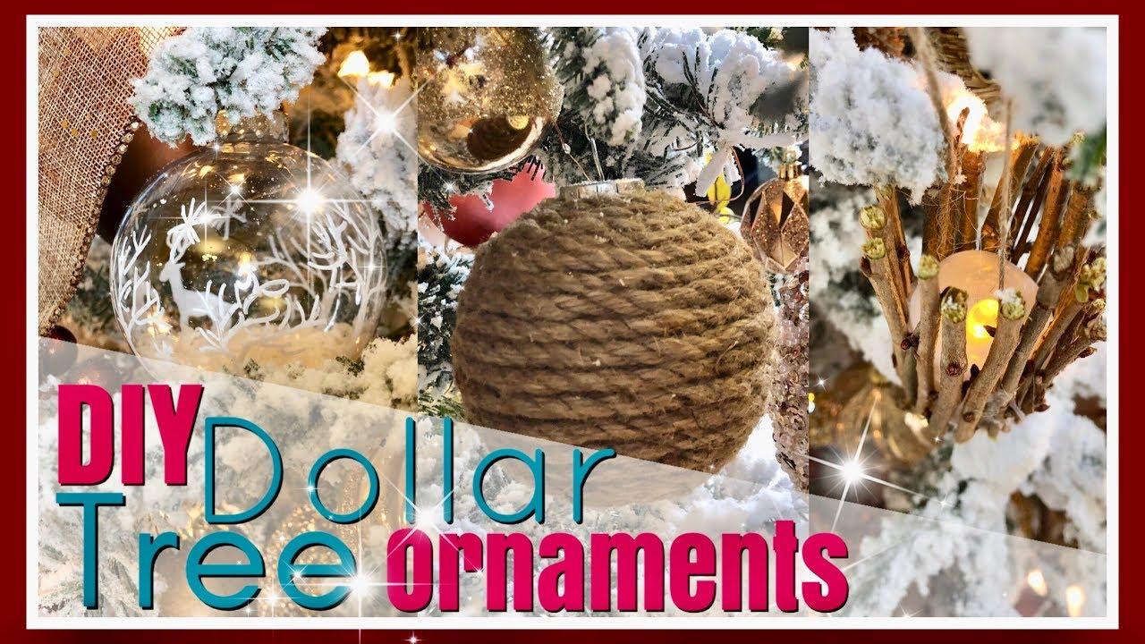 Rustic Winter Woodland Wonderland Decor Diy Dollar Tree Ornaments Day 16 25 Days Of Christmas