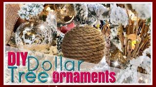 RUSTIC Winter WOODLAND Wonderland Decor | DIY Dollar Tree Ornaments | Day 16 ~ 25 Days of Christmas