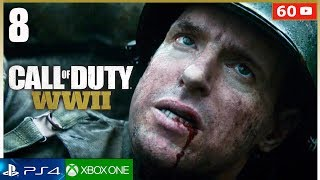 CALL OF DUTY WW2 Mision 8 Campaña Completa PS4   Gameplay Español Parte 8 (1080p 60fps)