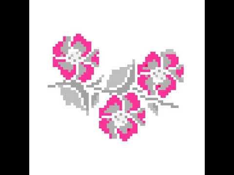 Flores em ponto cruz