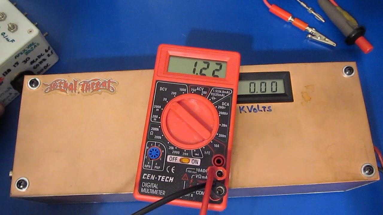 Homemade Esd Gun Vs Cen Tech Dt830 Meter Youtube Dt830d Digital Multimeter Circuit Diagram