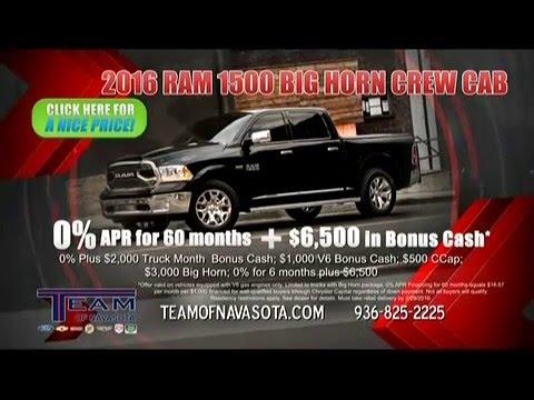 February Dodge Sales at Team of Navasota - YouTube