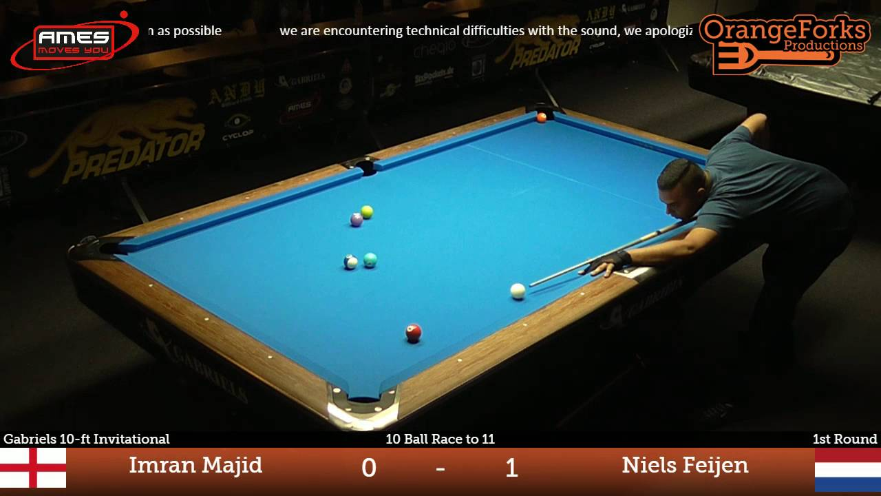 Imran Majid Vs Niels Feijen ᴴᴰ | Deurne City Classic 2016 | Gabriels 10 Ft  Invitational
