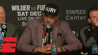Tyson Fury credits Deontay Wilder, but says 'I thought I won the fight' | Boxing