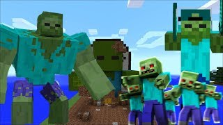 ZOMBIE APOCALYPSE ATTACK AT FRIENDLY ZOMBIE MARK HOUSE !! Minecraft !!