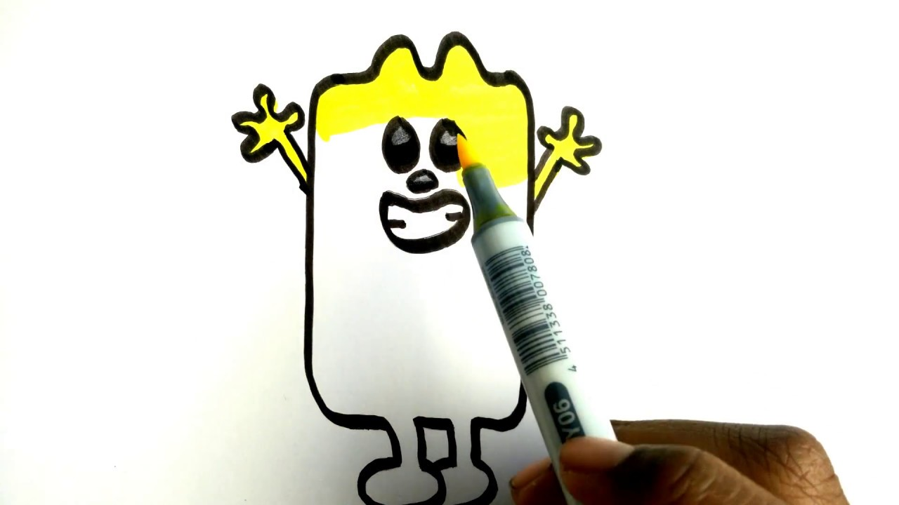 how to draw tall wubbzy coloring cartoon character wubbzy from