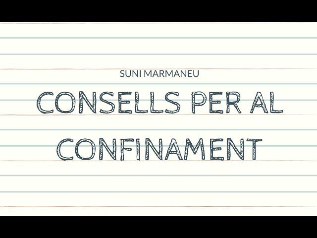 Consells per al confinament amb Suni Marmaneu (Psicòloga)