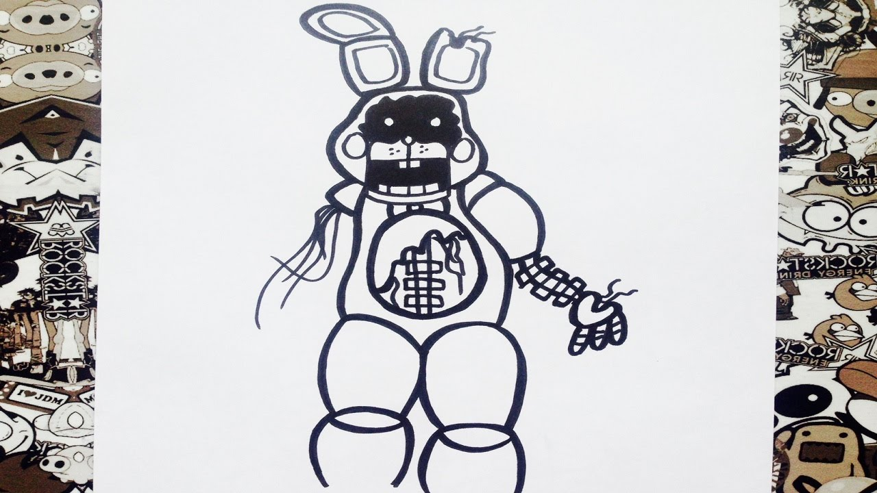 como dibujar a old toy bonnie | how to draw old toy bonnie ...