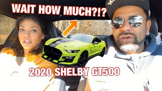 WIFE REACTS TO PAYMENT FOR 2020 SHELBY GT500!*OOPSE*