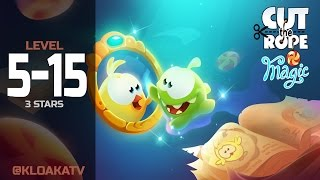 Cut The Rope: Magic 5-15 Ancient Library Walkthrough (3 Stars)
