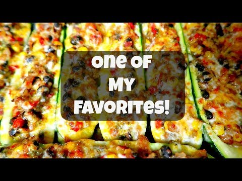 Stuffed Zucchini Boats   Vegetarian Dish
