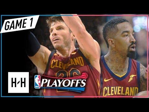 JR Smith & Kyle Korver Full Game 1 Highlights Cavs vs Raptors 2018 Playoffs ECSF - TOO HOT!