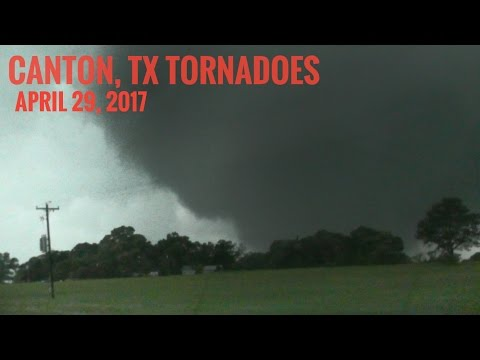 Canton, TX | Storm Chasing Two Wedge Tornadoes 4/29/17