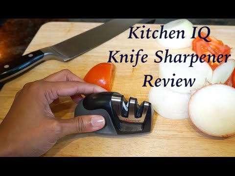 Kitchen Iq 50009 Edge Grip 2 Stage Knife Sharpener Review Youtube