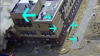 Мурино, падение крыши спортзала в строящейся школе!!!