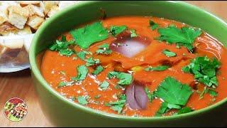 Гаспачо, холодный томатный суп. Просто, вкусно, недорого.