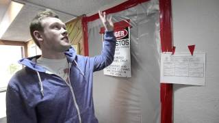 James Richey talks about the asbestos problem in his home