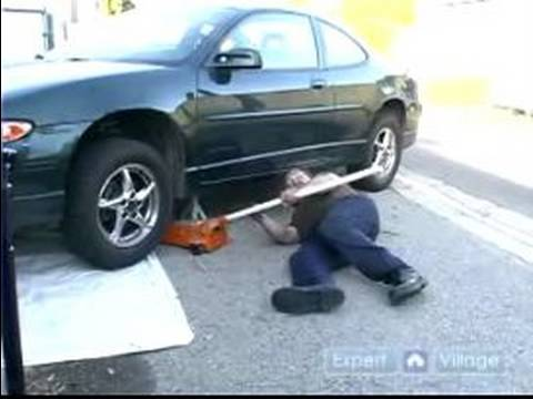 how to jack up a car to change oil