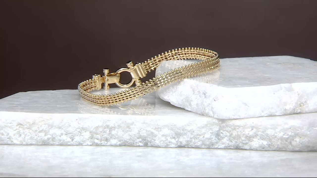 Imperial Gold Woven Riccio Bracelet 14K Gold on QVC YouTube
