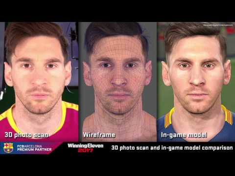 PES 2017: Barcelona Faces Graphics 3d photo scan