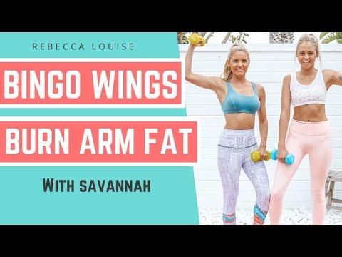 BINGO WINGS Challenge - BURN ARM FAT - 5 Minute Tricep Routine | Rebecca Louise
