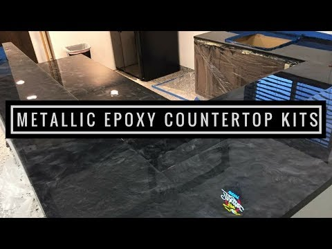 Metallic Epoxy DIY Customer Install 3   Countertop Resurfacing Kits