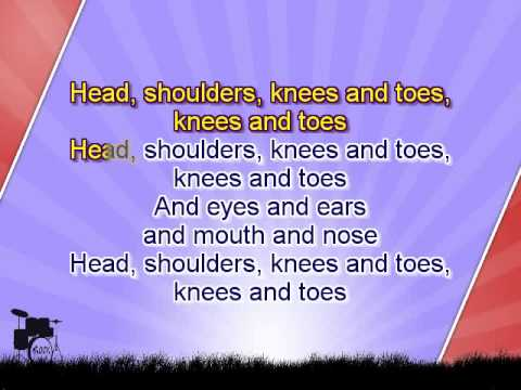 Karaoke for kids - Head, shoulders, knees and toes - key +3 - with backing melody