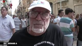 Protest By Maltese Patriots In Valletta  (sept ,20th,2015)