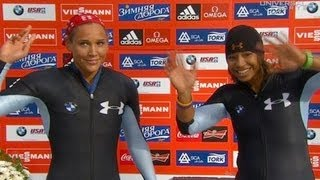 Lolo Jones scores silver in first Bobsled race - Universal Sports