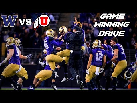 Washington vs Utah - Game Winning Drive