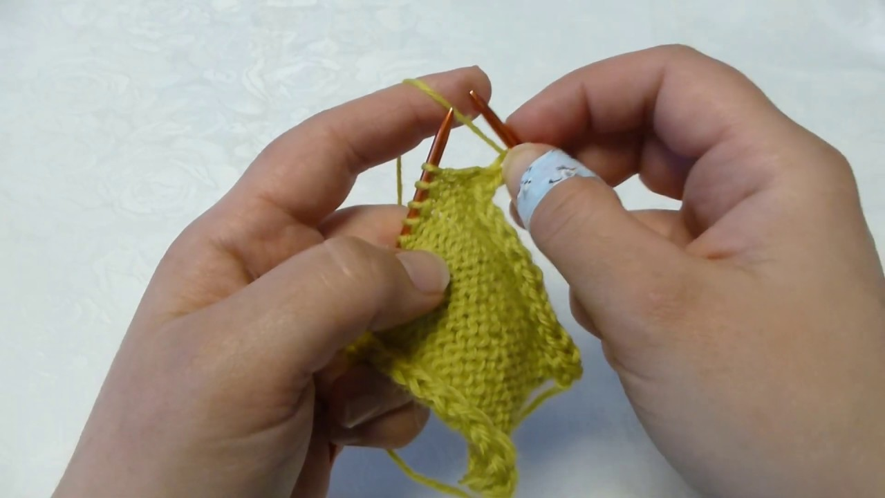 How to purl and twist purl
