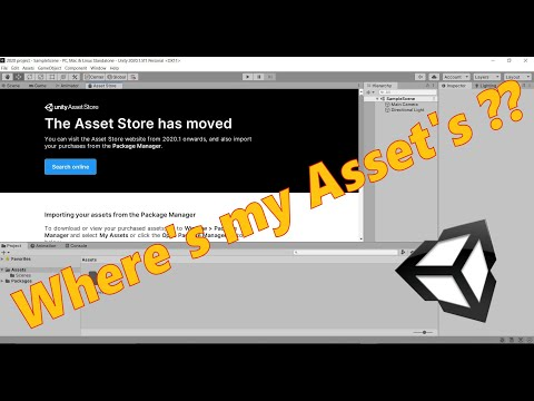 Unity 2020 Asset Store gone - Where's my Asset's?
