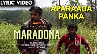 Maradona - Aparaada Panka (Lyric Video) | Tovino Thomas, Sharanya | Vishnu Narayan | Sushin Shyam