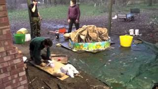 Tie Dyeing a Tent