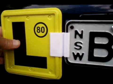 Clip on your L plates. It\u0027s so easy. & Clip on your L plates. It\u0027s so easy. - YouTube