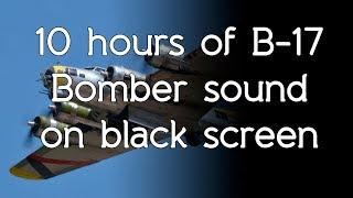 🎧 B-17 Bomber airplane sound on high quality white noise ASMR black screen dark screen